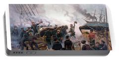 Battle Between Kearsarge And Alabama Portable Battery Charger