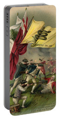 Battle Of Bunker Hill With Gadsden Flag Portable Battery Charger