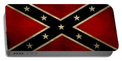 Battle Scarred Confederate Flag Portable Battery Charger