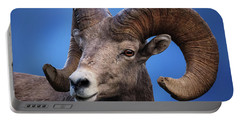 Battle Worn Bighorn Sheep Portable Battery Charger
