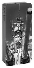 Portable Battery Charger featuring the photograph Battleship Missouri by Colleen Coccia