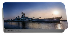 Portable Battery Charger featuring the photograph Battleship New Jersey by Marvin Spates