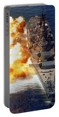 Battleship Uss Iowa Firing Its Mark 7 Portable Battery Charger