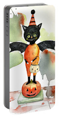 Batty Vintage Cat  Portable Battery Charger