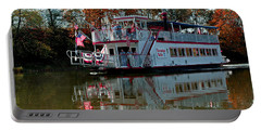 Portable Battery Charger featuring the photograph Bavarian Belle Riverboat by LeeAnn McLaneGoetz McLaneGoetzStudioLLCcom