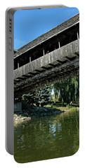 Portable Battery Charger featuring the photograph Bavarian Covered Bridge by LeeAnn McLaneGoetz McLaneGoetzStudioLLCcom