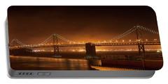 Bay Bridge At Night Portable Battery Charger