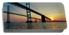 Bay Bridge At Sunset  Portable Battery Charger