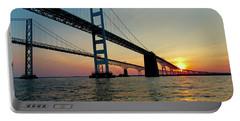 Bay Bridge At Sunset  Portable Battery Charger