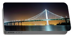 Bay Bridge East By Night 1 Portable Battery Charger