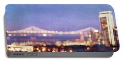 Bay Bridge Glow Portable Battery Charger by Melanie Alexandra Price