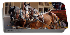 Bay Colored Clydesdale Horses Portable Battery Charger