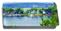Bay Harbor Portable Battery Charger by Desiree Paquette