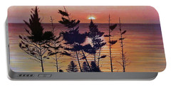 Bay Of Fundy Sunset Portable Battery Charger