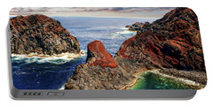Bay Of Ponta Da Barca Portable Battery Charger by Anthony Dezenzio