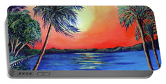Portable Battery Charger featuring the painting Baycrest by Ecinja Art Works