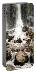 Portable Battery Charger featuring the photograph Bayfront Park Waterfall by Lars Lentz