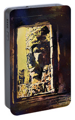 Portable Battery Charger featuring the painting Bayon IIi- Cambodian Ruins, Angkor Wat by Ryan Fox