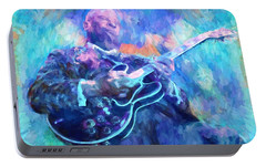 Bb King Portable Battery Charger by Dan Sproul