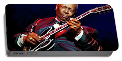 Bb King Portable Battery Charger by Paul Tagliamonte