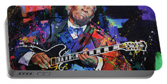 Bb King Portable Battery Charger by Richard Day