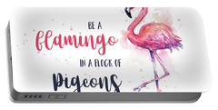 Be A Flamingo Portable Battery Charger