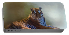 Be Calm In Your Heart - Tiger Art Portable Battery Charger