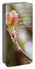 Be Faithful By Mother Teresa Portable Battery Charger