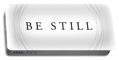Be Still - Minimalist Scripture Print Portable Battery Charger