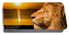 Portable Battery Charger featuring the photograph Be Strong And Courageous by Scott Carruthers