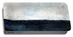 Beach- Abstract Painting Portable Battery Charger by Linda Woods