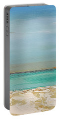 Portable Battery Charger featuring the painting Beach Afternoon by Diana Bursztein