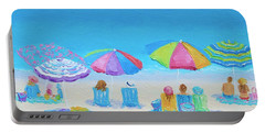 Beach Art - A Golden Day Portable Battery Charger