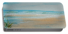 Portable Battery Charger featuring the painting Beach At High Tide by Dorothy Darden