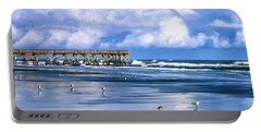 Beach At Isle Of Palms Portable Battery Charger by Dominic Piperata
