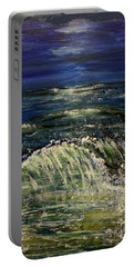 Beach At Night Portable Battery Charger