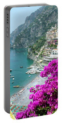Beach At Positano Portable Battery Charger