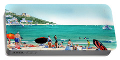 Beach At Roses, Spain Portable Battery Charger
