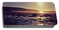 Portable Battery Charger featuring the photograph Beach At Sunset by Lyn Randle