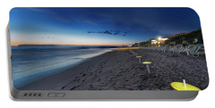 Beach At Sunset - Spiaggia Al Tramonto I Portable Battery Charger