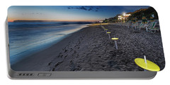 Beach At Sunset - Spiaggia Al Tramonto II Portable Battery Charger