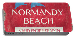 Beach Badge Normandy Beach Portable Battery Charger