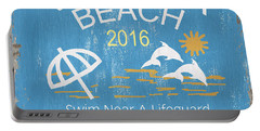 Beach Badge Virginia Beach Portable Battery Charger