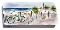 Beach Bike At Seaside Portable Battery Charger