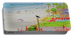 Beach Bird On A Pole Portable Battery Charger