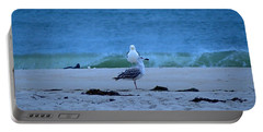 Portable Battery Charger featuring the photograph Beach Birds by  Newwwman