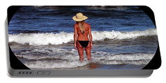 Portable Battery Charger featuring the photograph Beach Blonde .png by Al Powell Photography USA