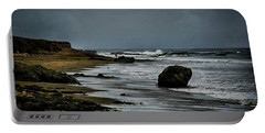 Portable Battery Charger featuring the photograph Beach Boulder by Joseph Hollingsworth