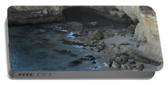 Beach Cave From The Cliffs In Malhada Do Baraco Portable Battery Charger by Angelo DeVal