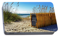 Portable Battery Charger featuring the photograph Beach Chairs by Paul Mashburn
